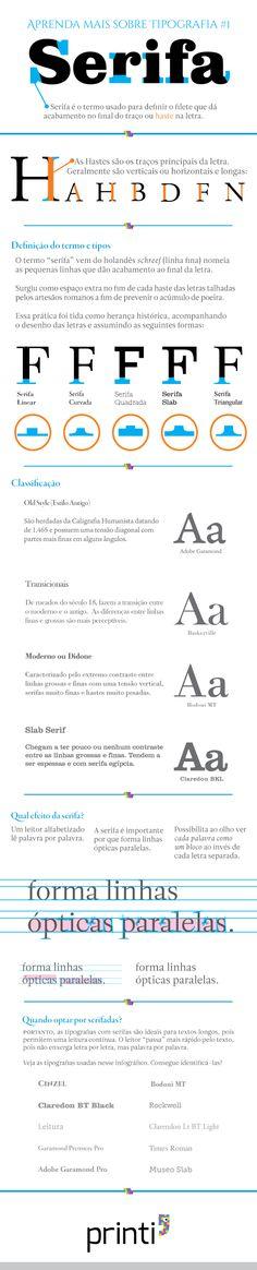 Aprenda mais sobre tipografia: Serifas [Infográfico]