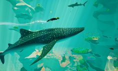 Recently I've played a quite simple game, but it was a fantastic experience: Abzû. It is a fantasy game, set in an underwater world with stylish game design Video Game Art, Video Games, Underwater Art, Underwater Video, Video Game Development, Xbox One Games, New Journey, Deep Sea, Game Design