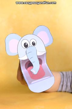 Printable elephant puppet for kids. Printable elephant puppet for kids. Animal Crafts For Kids, Craft Projects For Kids, Paper Crafts For Kids, Craft Activities For Kids, Diy Arts And Crafts, Preschool Crafts, Toddler Activities, Diy For Kids, Fun Crafts