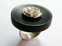 Items similar to Sterling Silver Rose and Wood Statement Ring on Etsy African Jewelry, Silver Roses, Statement Rings, Sterling Silver, Wood, Unique Jewelry, Handmade Gifts, Etsy, Art