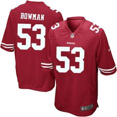 ddca8a094 Youth Nike San Francisco 49ers  53 NaVorro Bowman Limited Red Team Color NFL  Jersey Sale
