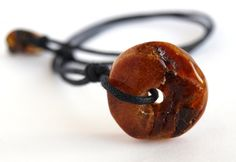 Unique Baltic amber Amulet pendant