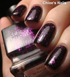 I don't like glitter nail polish, but strangely, I like this.  It makes me think of galaxies.