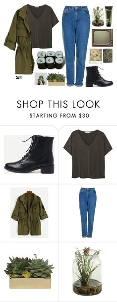 """#SheIn"" by credentovideos ❤ liked on Polyvore featuring Jura, MANGO, Topshop, Jayson Home, Origins and Realtree"