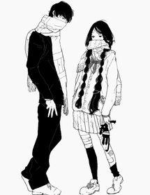 аниме, аниме парни, пара в аниме, аниме девочка, искусство, парень, пара, пары, мило, мода, девушка, любовь, монохром