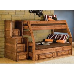 visions twin over full bunk bed cocoa kidsu0027 bedroom furniture