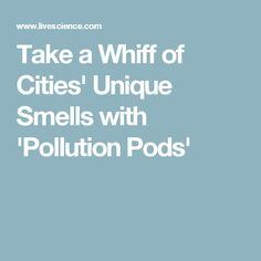 Take a Whiff of Cities' Unique Smells with 'Pollution Pods'