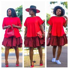 This dress is a dream and I styled it 3 ways. Nigerian Dress Styles, Short African Dresses, African Blouses, Latest African Fashion Dresses, African Print Fashion, Africa Fashion, Ankara Fashion, Tribal Fashion, African Prints