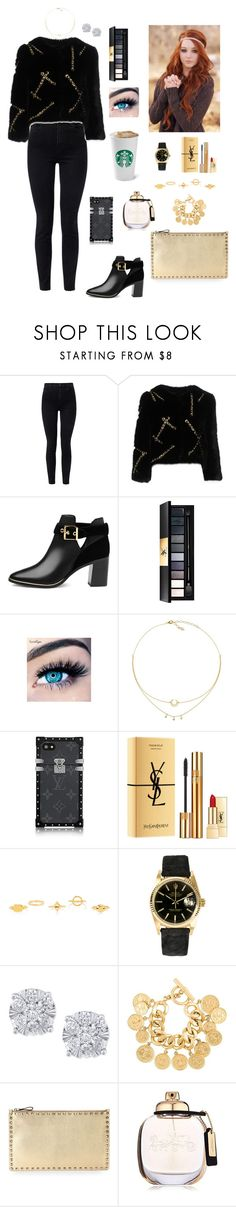 """""""#314"""" by tamara-wolfram ❤ liked on Polyvore featuring J Brand, Moschino, Ted Baker, Yves Saint Laurent, MINX, Chloé, Rolex, Effy Jewelry, Chanel and Valentino"""