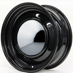 California Smoothie Wheels with Center Cap | HRH STEEL WHEELS SMOOTHIE BLACK WITH SMOOTHIE CAP AND TRIM RING