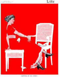 Ultimate Lady in Red  Coles Phillips - 1911 Life Cover