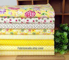 Amarillo paquete de tela / tela de Yello amarilla por fabricmade