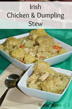 Are you looking for a meal to celebrate St. Patrick's Day or some Irish Heritage? Irish Chicken and Dumpling Stew is just what you need. This hearty meal will fill you up as we transition from the cooler weather. I am in love with this stew and I know that it will quickly become a favorite in your house, too!
