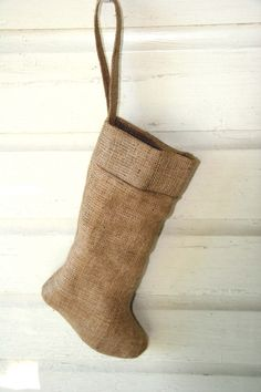 plain burlap stocking