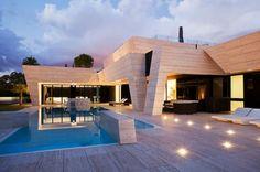 Flachdach Decken Minimalist : Architektenhaus flachdach mit staffelgeschoss dachterrasse