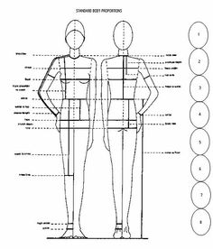 body proportions - tips on pattern drafting by height. Sewing Hacks, Sewing Tutorials, Sewing Crafts, Sewing Projects, Sewing Tips, Techniques Couture, Sewing Techniques, Pattern Cutting, Pattern Making