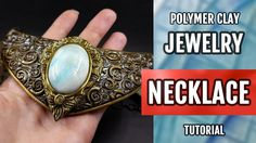 DIY Making an Extraordinary Necklace with Faux Moonstone. Polymer Clay J...