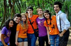Hazel, Frank, Annabeth, Percy, Jason, Piper, and Leo. I need to find 6 friends to do this with. I'll be Piper, I look like her in real life. Ugh I need this