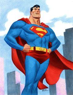 #Superman #Fan #Art. (Man of Steel!) By: Bruce Timm. (THE * 5 * STÅR * ÅWARD * OF: * AW YEAH, IT'S MAJOR ÅWESOMENESS!!!™)[THANK U 4 PINNING!!!<·><]<©>ÅÅÅ+(OB4E)