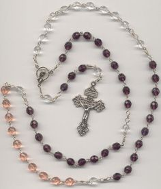 Glass Bead Advent Rosary by TheRosaryLady on Etsy