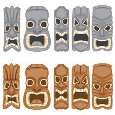 Tiki Face Clipart - Clipart Kid