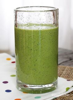A vitamin packed smoothie, perfect for breakfast or lunch on the go!  Ok, so I'll admit, first time trying a green monster smoothie... and quite honestly…