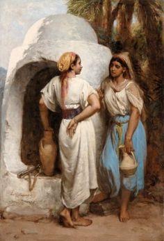 Hippolyte LAZERGES (1817-1887) Femmes au puits