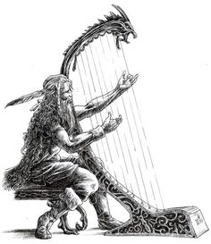 Bragi The god of poetry, eloquence, and music.  Bragi was the son of Odin and Gunlod and husband of Idunn. Bragi does not play a major role in Norse myths. He played a harp and sang so sweetly that even the trees and flowers were charmed by him. Norsemen called their poets or skalds bragamen or bragawomen. Because Odin had a great knowledge of poetry, some scholars see Bragi as another facet of Odin's personality.