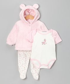 Rumble Tumble - Pink Giraffe Footie Pants Set