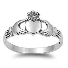 925 Sterling Silver Benediction of the Claddagh Heart Ring