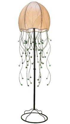 Natural Jellyfish Floor Lamp in Wrought Iron---this is pretty cool.