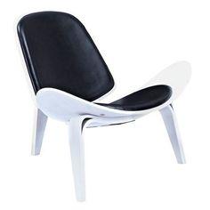 Nye Koncept 224436-A Milano Black Shell Chair - White