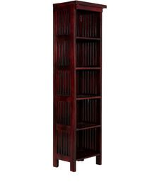 Santiago Solid Wood Book Shelf in Passion Mahogany Finish by Woodsworth