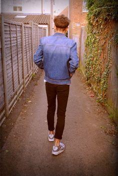 walking away.