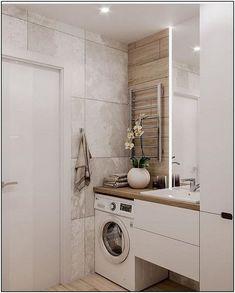 Home Interior 2019 .Home Interior 2019 Tiny House Bathroom, Laundry In Bathroom, Modern Bathroom Design, Bathroom Interior Design, Small Bathrooms, Interior Paint, Apartment Design, Cheap Home Decor, Home Decor Accessories