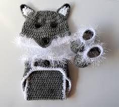 Risultati immagini per crochet wolf hat