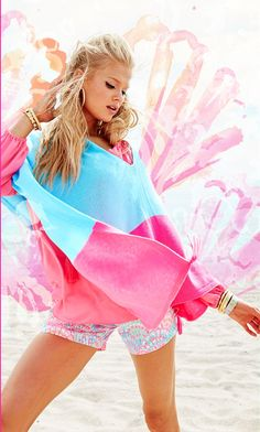 Lilly Pulitzer Kinnon Sweater Wrap in Breakwater Blue Resort Colorblock. Lilly Pulitzer Prints, Lily Pulitzer, Cool Outfits, Summer Outfits, Summer Clothes, Preppy Handbook, Resort Dresses, Summer Photography, Cool Style