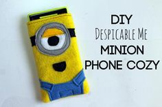 How To DIY iPhone Minion Case : DIY Despicable Me Minion Phone Cozy