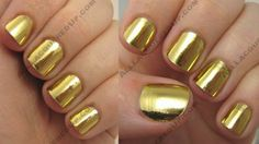 Minx nails in gold -- I still like the silver best but sometimes you need GOLD!  Still looking for local salon that does Minx!