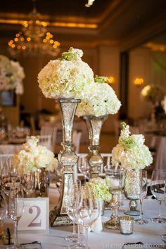 Elegant Atlanta Wedding with a Royal Flair at the St. Regis - wedding centerpiece. photo: Janet Howard Studio