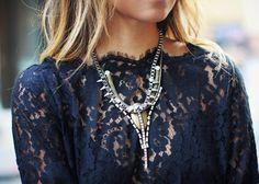 statement jewels + lace