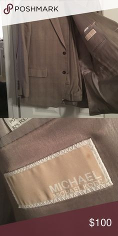 42R, Tan Michael Kors suit. Gently used, dry clnd 42R, 34-36 pants, tan, tailored for someone approx. 5'10, 190lbs. Suit has been gently used and dry cleaned. In excellent condition. KORS Michael Kors Suits & Blazers Suits
