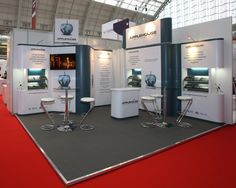 Prestige Exhibition stand design for Applehouse Travel at the Business Travel Show 2015 by Quadrant2Design