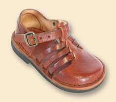 Too cute Grandpa sandles in a tiny size for J.  A proudly South African product!  The vellies are also too cute.