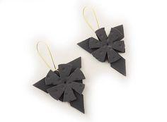 Grey earrings gift earrings grey gift unique geometric