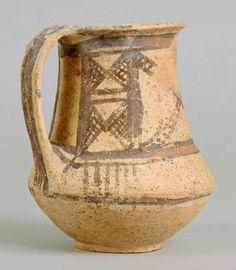 HENKELKRUG DER BICHROME WHEEL-MADE WARE Zyprisch, Bronzezeit, Spätzyprisch 1625 - 1450 v. Chr.