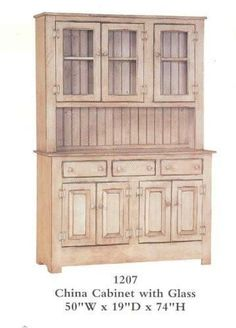 Beautiful China Cabinet made and stained and/or painted by Amish Craftsmen in Pennsylvania. Give your kitchen or dining room the country look while adding lots