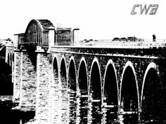 A black and white image of the historic Bridge on the Boyne River near Drogheda, Ireland. The viaduct links the Dublin-Belfast railway line. White Image, Black And White Photography, Science Nature, Ireland, Fine Art Prints, River, World, Gallery, Artwork