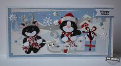 Kaarten & zo: 52 weeks to Christmas. Marianne Design Cards, Christmas Cards, Xmas, 52 Weeks, Matilda, Making Ideas, Kittens, Card Making, Challenges
