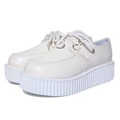 White Plain Creeper Shoes